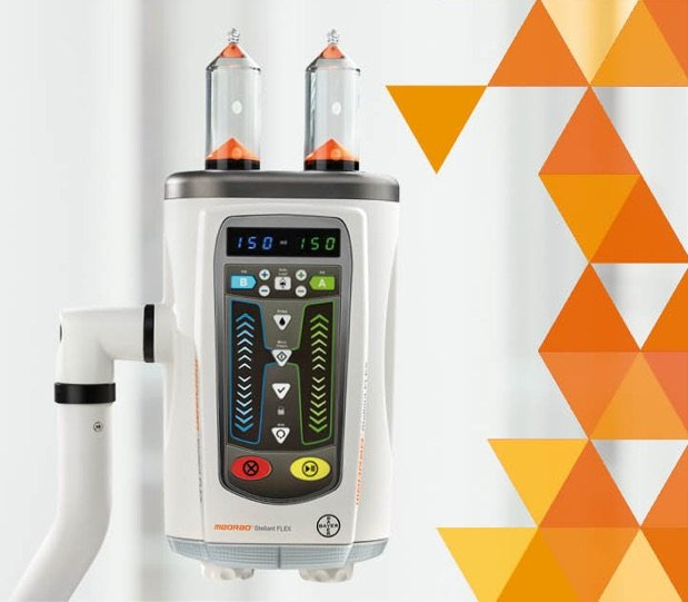 The MEDRAD Stellant FLEX offers the latest CT injection technology from Bayer.