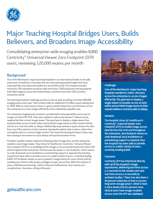 Major Teaching Hospital Bridges Users, Builds Believers, and Broadens Image Accessibility