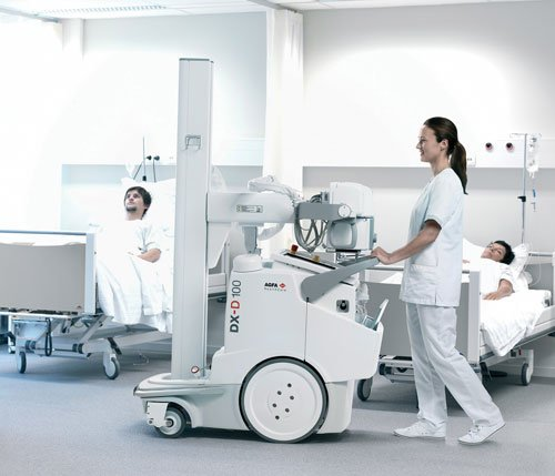 mobile DR, digital radiography, X-ray, Agfa, DX-D 100