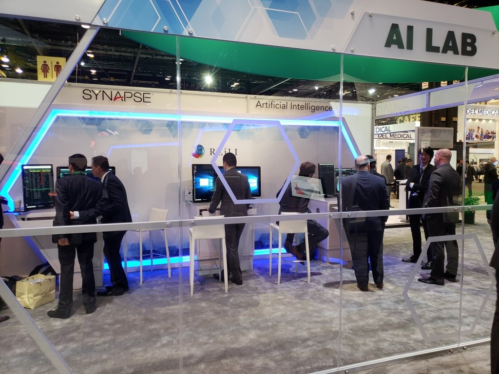 The AI Lab in the Fujifilm Medical Systems booth at RSNA 2018 demonstrated the openness of the latest version of Fujifilm's Synapse PACS