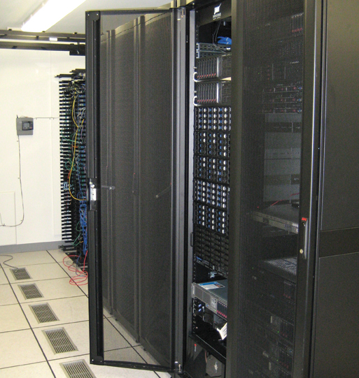 The Dell Compellent data storage array stores some of the 64 TB of data Princeton Radiology keeps at its two sites