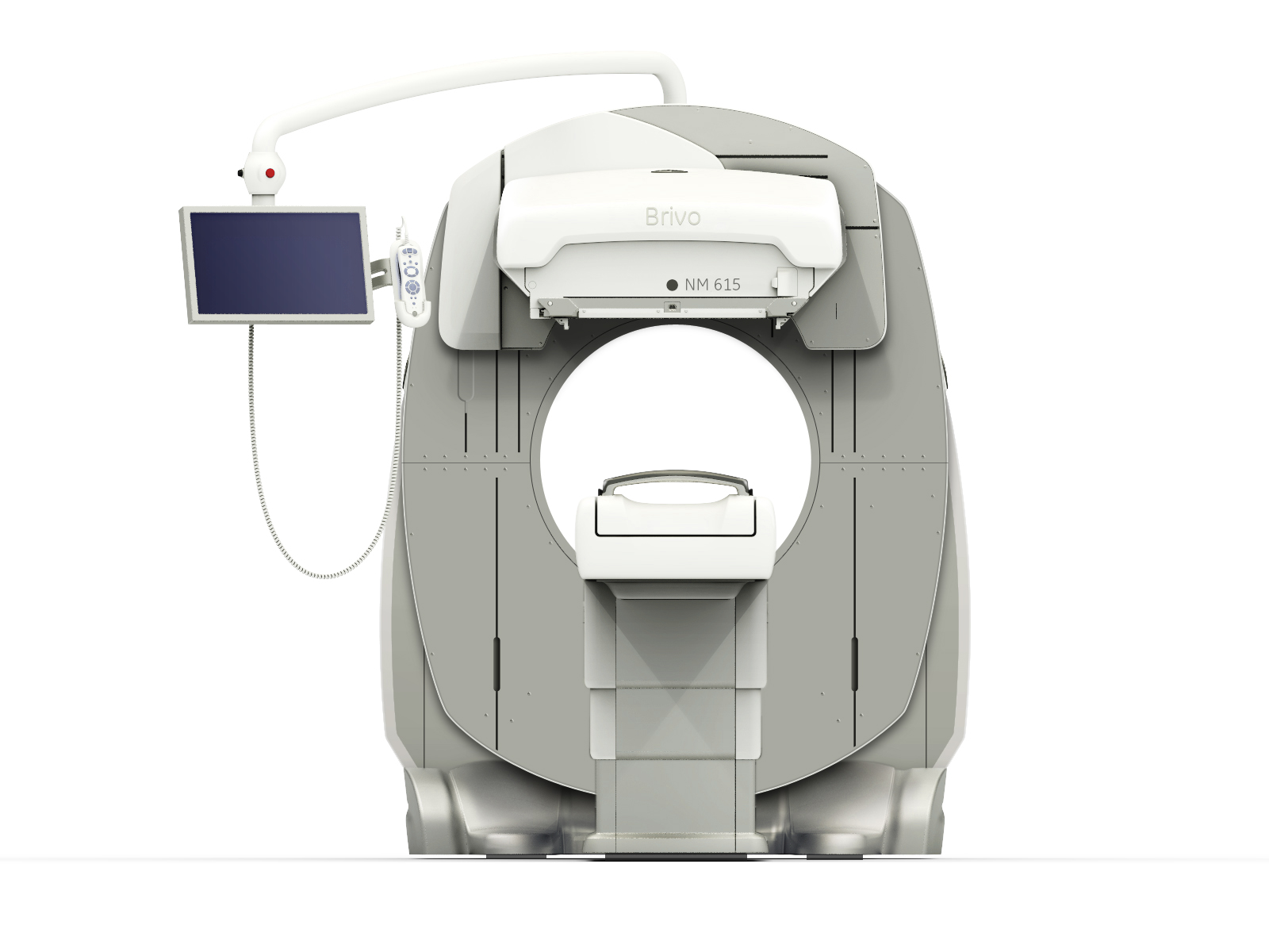 The GE Healthcare Brivo NM 615 SPECT/CT system is an example of the newer detector technology available, which enables lower amounts (up to 50 percent) of radiotracers and the potential for shorter exam times.