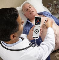 he smallest point-of-care ultrasound platform available is the V-Scan, released earlier this year by GE Healthcare. POC ultrasound.