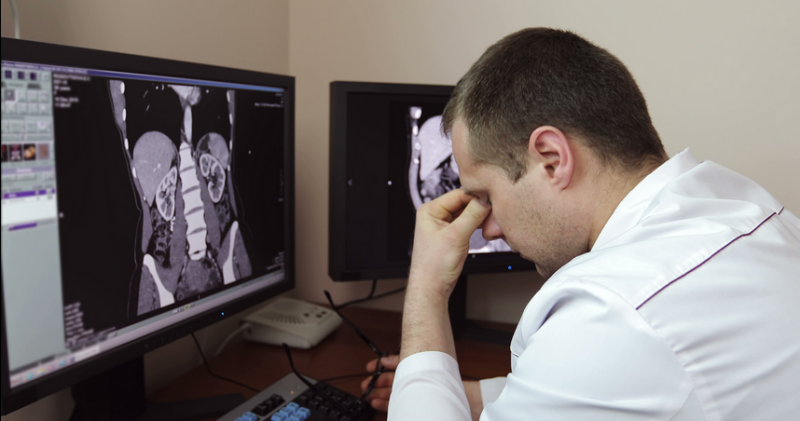In 2011, about half of radiologists reported being burned out, according to the American College of Radiology (ACR)