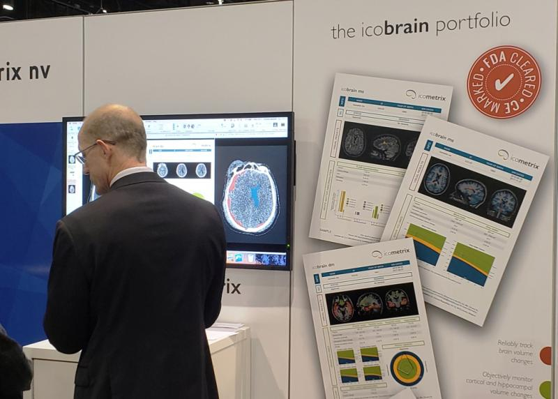 Looking for the telltale signs of brain injury in comouted tomography (CT) scans? Belgium's icometrix is showed how its FDA-cleared icobrain can help.  The company describes at its booth in Machine Learning Showcase. #RSNA18 #RSNA2018 #RSNA