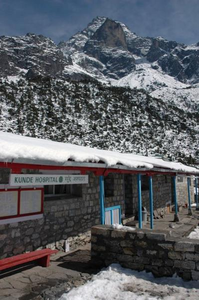 Kunde Hospital in Nepal is located at 3,840 meters above sea level and was founded by Sir Edmund Hillary in 1966.