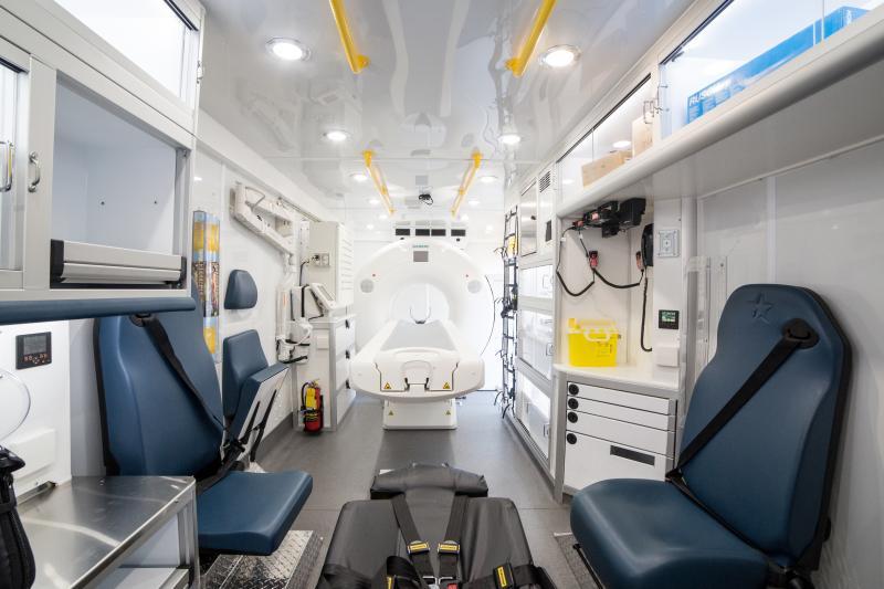 University of Tennessee, Mobile Stroke Unit interior, Siemens Somatom Scope CT scanner