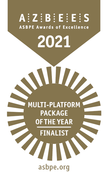 Overall Excellence Finalist/Multi-platform Package of the Year for its coverage of the Pandemic's Toll on Radiology, National