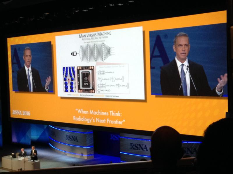 Keith Dreyer, DO, said artificial intelligence is one of the most important developments to watch in radiology at the opening session of RSNA 2016.