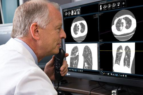 Cerner demonstrated how radiologists can be better integrated into the electronic medical record (EMR) workflow.