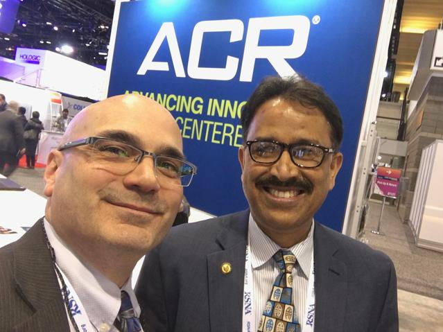 ITN Editor Dave Fornell and Mahadevappa Mahesh, Ph.D., chief of medical physicist and professor of radiology and medical physics, Johns Hopkins University. He presented a late-breaking RSNA study on how medical imaging radiation dose has started to drop over the past decade.