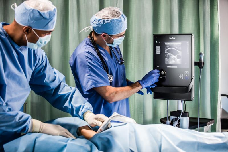 Fujifilm's Sonosite SII POC ultrasound system helps to keep crowded areas clearer with a small ultrasound footprint.
