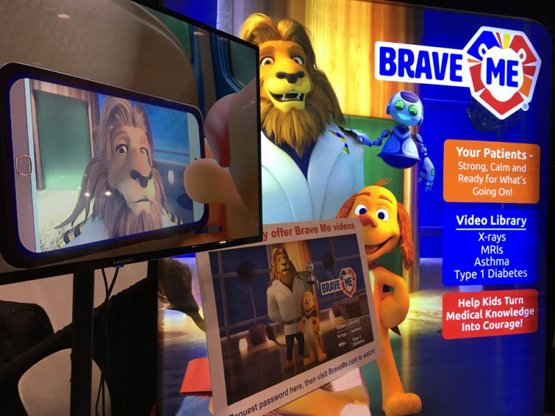 The company Brave Me offers videos, stuffed animals and other aids for help radiology departments explain imaging procedures to small children so the experience is not so scary.