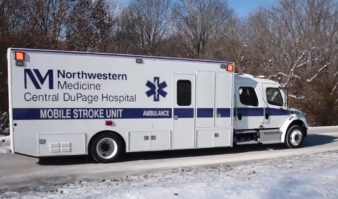 The Northwestern Medicine Central DuPage Hospital (CDH) mobile stroke unit.