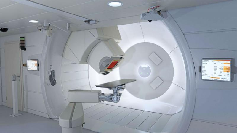 The IBA Proteus Plus proton therapy radiation therapy system.