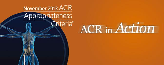 ACR radiation therapy imaging ct systems DR systems appropriateness criteria