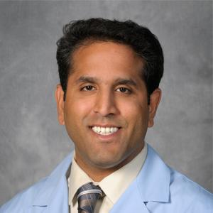 Vinai Gondi, M.D., the Director of Research at the Northwestern Medicine Chicago Proton Center, Co-director of the Brain Tumor Center at Northwestern Medicine Cancer Center, Warrenville, and lead author of the NRG-BN001 abstract.