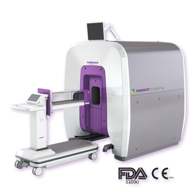Embrace Neonatal MRI is a U.S. Food and Drug Administration (FDA) cleared and CE marked compact magnetic resononance imaging (MRI) system ergonomically designed to fit inside the neonatal intensive care unit (NICU)