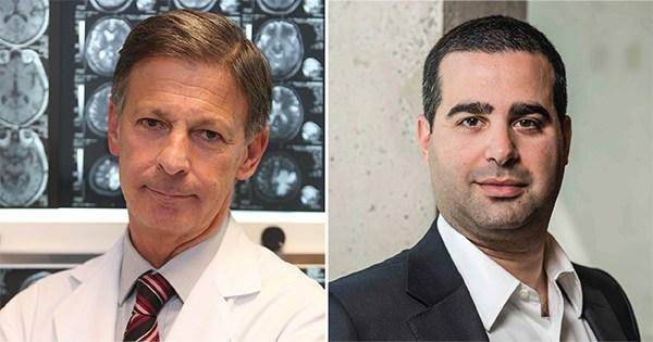 José Obeso, MD, PhD, (left) of of the Centro Integral de Neurociencias (HM CINAC) in Madrid and Nir Lipsman, MD, PhD, (right) of Sunnybrook Health Sciences Centre in Toronto. Each doctor is leading a clinical trial using focused ultrasound to target the striatum in patients with Parkinson's disease.