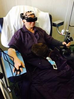 Virtual reality during chemotherapy has been shown to improve breast cancer patients' quality of life during the most stressful treatments
