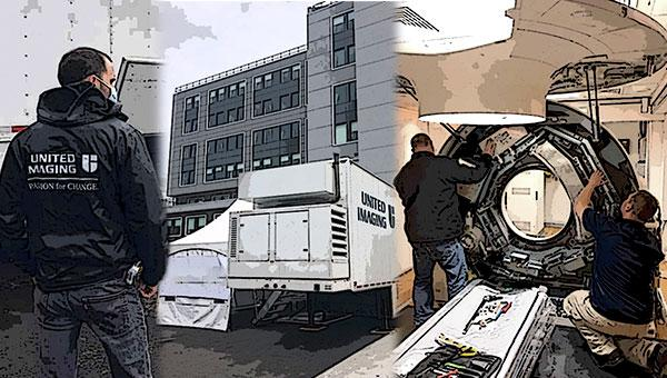 #COVID19 #Coronavirus #2019nCoV #Wuhanvirus #SARScov2 United Imaging has installed its first transportable CT Scanner at Maimonides Medical Center in New York City to help expand its capacity for imaging during the fight against coronavirus in the U.S. As the hospital scales its operations to meet the needs of an expected influx of coronavirus patients, doubling its capacity to 1,400 beds, United Imaging's scanner will help expand its capacity for imaging studies to support diagnosis and treatment.
