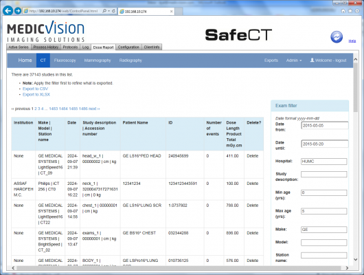 Medic Vision Adds CT Dose Monitoring and Reporting Capability to SafeCT