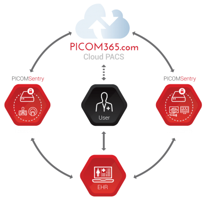 PICOM365 Cloud's anytime, anywhere architecture to include zero-footprint Structured Reporting for complex workflows such as echo, stress, cath SPECT, PET, holter, vascular, OB/GYN, maternal-fetal monitoring and breast ultrasound