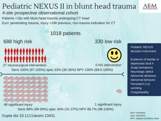 CT Decision Instrument Reliably Guides Pediatric Blunt Trauma imaging Decisions