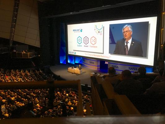 Upcoming radiology conferences, meetings and events. This photo is from the 2017 RSNA opening session.