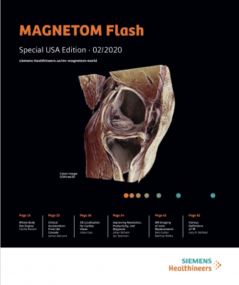 The Magnetom World is the community of Siemens Healthcare MR users worldwide, providing you with relevant clinical information. In this supplement you will find application tips and protocols to optimize your daily work. Lectures and presentations from experts in the field will allow you to be exposed to new ideas and alterntive clinical approaches.