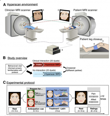 The fMRI hyperscanning environment.