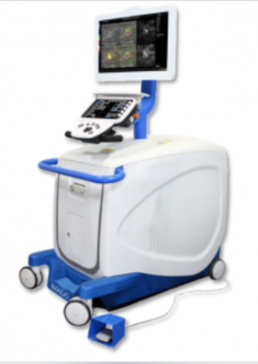 The Imagio Breast Imaging System combines laser light and sound with conventionalultrasound technology to provide fused functional and anatomic images (referred to as optoacoustic/ultrasound or OA/US) in real time, increasing confidence in diagnostic accuracy.