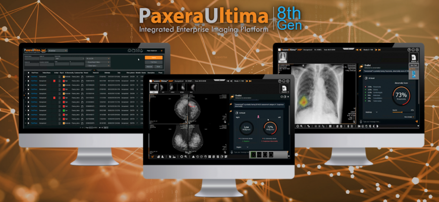PACS/RIS developer PaxeraHealth will launch its newest product, #PaxexaUltima 8th Generation, an artificial intelligence (#AI)-based #imaging platform at #HIMSS21 in #LasVegas.