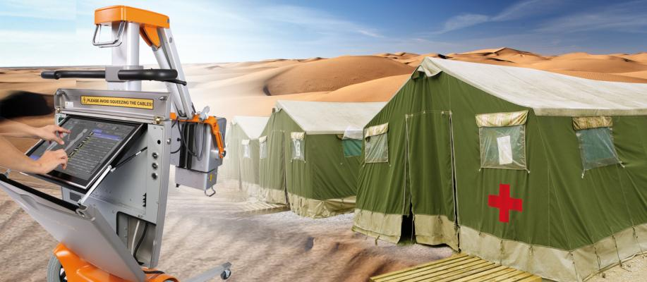 Portuguese Army Field Hospital OR Technology Mobile X-ray Solution Amadeo M-DRw