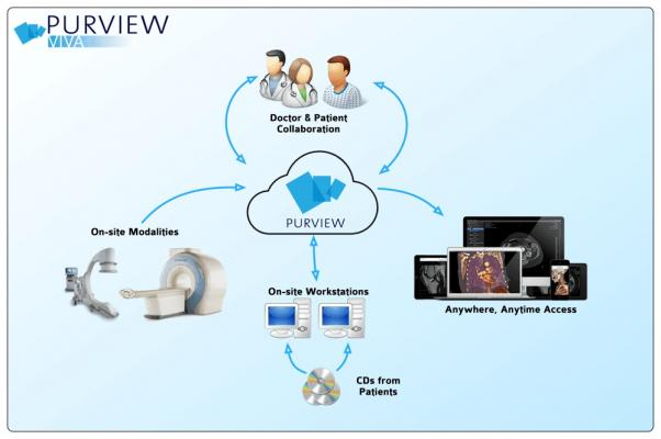 Purview, ViVA medical image access platform, one million patients, RSNA 2016