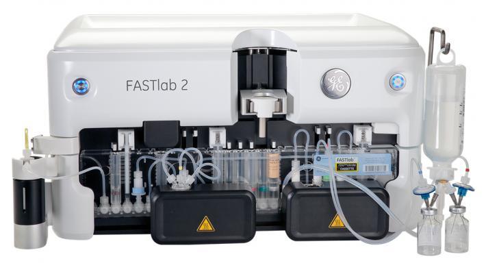 GE Healthcare, FASTlab 2, FDG Duo, GENtrace cyclotron, PET imaging