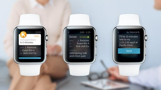 Kareo, Apple Watch App, practice efficiency, messaging, mobile devices