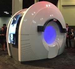 The Reflexion combination PET-CT linac, on display at ASTRO 2018. The system uses PET radiotracer emissions to track tumors directly without the need for margins to account for respiratory motion. #ASTRO18 #ASTRO2018 #ASTRO
