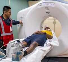 USNS Mercy CT Scan with patient and tech