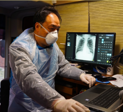 A physician working in a coronavirus care center nearby Daegu, South Korea, is using Lunit INSIGHT CXR to interpret chest X-ray image of a coronavirus patient. #COVID19 #Coronavirus #2019nCoV #Wuhanvirus #SARScov2