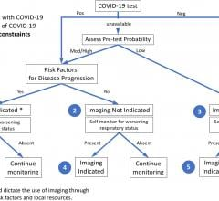 #COVID19 #Coronavirus #2019nCoV #Wuhanvirus #SARScov2  The first of three clinical scenarios presented to the panel with final recommendations. Mild features refer to absence of significant pulmonary dysfunction or damage. Pre-test probability is based upon background prevalence of disease and may be further modified by individual's exposure risk. The absence of resource constraints corresponds to sufficient availability of personnel, personal protective equipment, COVID-19 testing, hospital beds, and/or ve