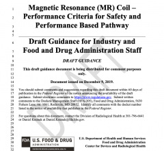 Magnetic Resonance (MR) Coil —Performance Criteria for Safety and Performance Based Pathway