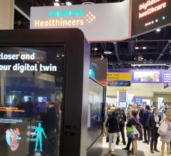 "Siemens featured digitalization and the prospect of a ""digital twin"" in its HIMSS19 booth"