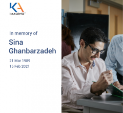It is with great sorrow and sadness that KA Imaging reported that its co-founder, Sina Ghanbarzadeh, passed away February 15, 2020. He had been battling lymphoma for over a year, but never gave up the fight.