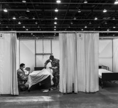 #COVID19 #Coronavirus #2019nCoV #Wuhanvirus #SARScov2 U.S. Army Spc. Jonathon Hyde and Spc. Casymn Harrison from the 1434th Engineer Company, Grayling, Mich., Michigan National Guard, prepare patient rooms at TCF Regional Care Center in Detroit in advance of receiving COVID-19 patients, April 9, 2020 #COVID19 #Coronavirus #2019nCoV #Wuhanvirus #SARScov2