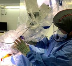 Prof. Jayant Vaidya, lead author of the study, University College London surgery and interventional science, performs a TARGI-IORT procedure. A small ball-shaped device placed inside the breast, directly where the cancer had been. The single-dose treatment lasts for around 20-30 minutes and replaces the need for extra hospital visits in eight out of ten cases.