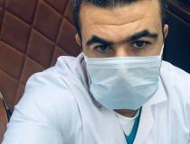 Dr. Mohammed Shaheen, a consultant cardiologist at the Islamic Center for Cardiology and Surgery at Al-Azhar University in Egypt. Wearing a mask all day at the hospital started to come common in February and March 2020 as the virus spread out of China to other regions.