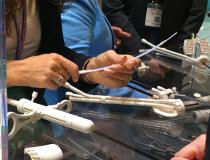 Brachytherapy catheters and positioning devices in the Elekta Booth.#ASTRO19 #ASTRO2019 #ASTRO