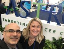 """ITN Editor Dave Fornell with Carri Glide-Hurst, Ph.D., director of translational research, radiation oncology at Henry Ford Health System, ran Into ITN Editor Dave Fornell at #ASTRO19. <a href=""""https://www.itnonline.com/article/innovations-radiotherapy-and-radiology-henry-ford-hospital"""">  See videos and read more about her work.</a>"""