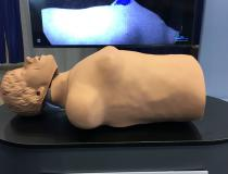 This is a real time video camera that can show radiation therapy delivery (simulated here by a laser shining on the breast) and patient motion. The Dose Optics C-Dose TV shows dose accumulation based of a sensitive camera that can show the Cherenkov radiation glow. This can help show if the beam is on target and the approximate dose delivered. It also shows if patient respiratory motion pushes the target out of the beam line, where the radiation therapist can turn it off until the #ASTRO19 #ASTRO2019 #ASTRO